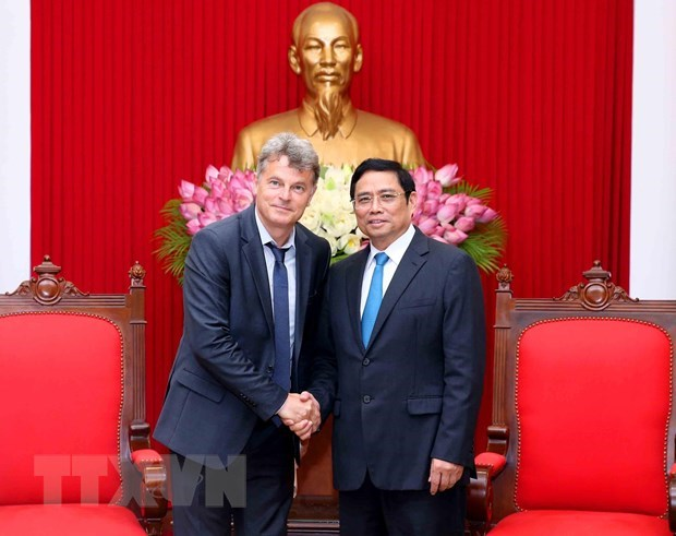 French Communist Party delegation welcomed in Hanoi hinh anh 1