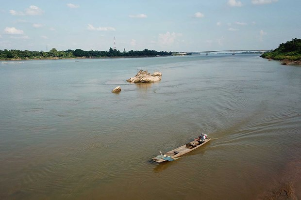 Mekong River's water level in Thailand lowest in nearly 100 years hinh anh 1