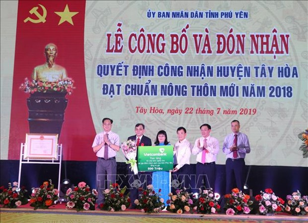 Phu Yen's Tay Hoa district recognised as new-style rural area hinh anh 1