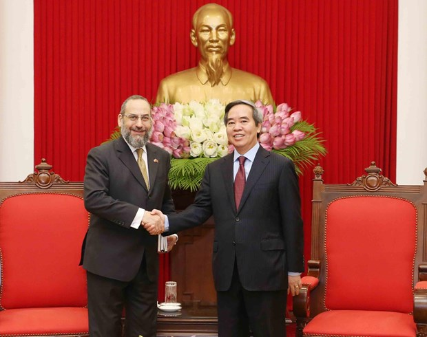 Party official receives delegation of US Treasury Department hinh anh 1