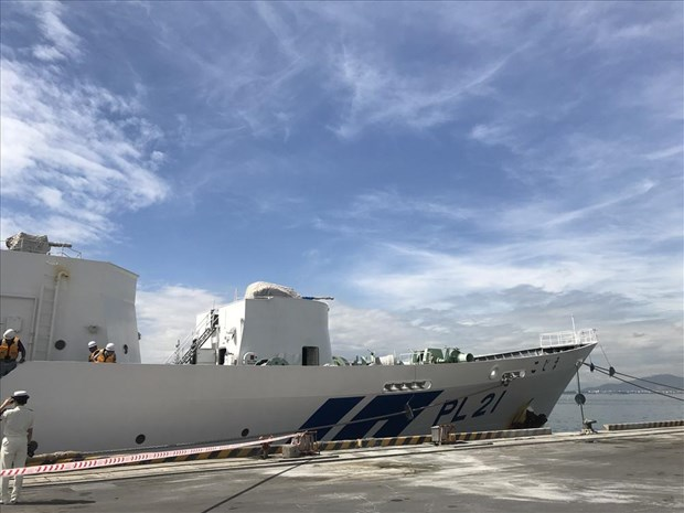Japanese coast guard ship welcomed in Da Nang hinh anh 1