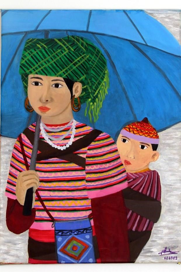 Painting by Vietnamese hearing-impaired artist on display in Italy hinh anh 1