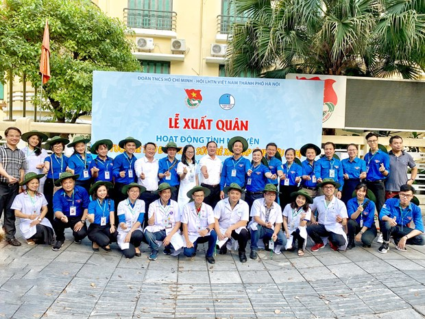 Hanoi's youths launch volunteer activities in Laos hinh anh 1