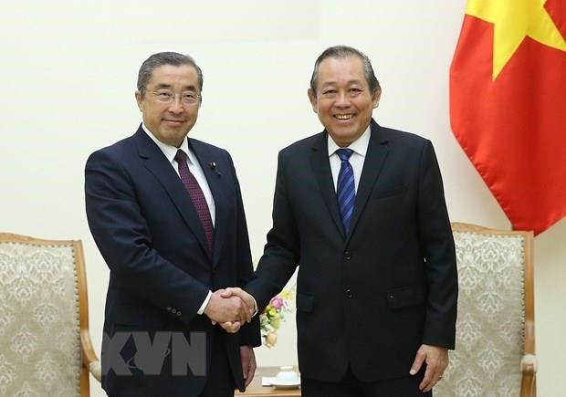 Deputy PM hails Japan's assistance in building e-government hinh anh 1