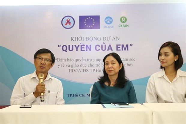 HCM City: Project launched to support children with HIV hinh anh 1