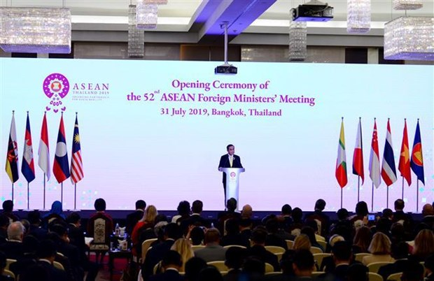 52nd ASEAN Foreign Ministers' Meeting opens in Thailand hinh anh 1
