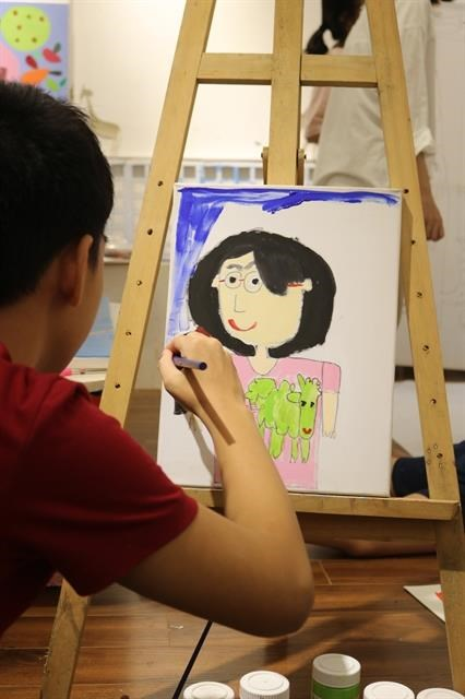 Exhibition showcases art works by autistic children hinh anh 1