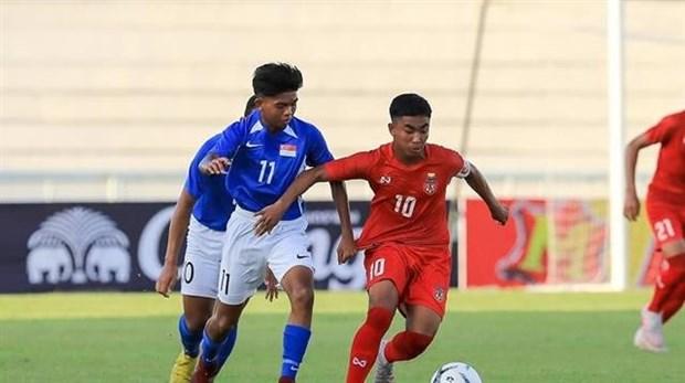 Vietnam defeat Singapore at AFF U15 Championship hinh anh 1