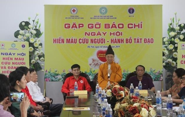 Vietnam Buddhist Academy to host blood donation festival hinh anh 1