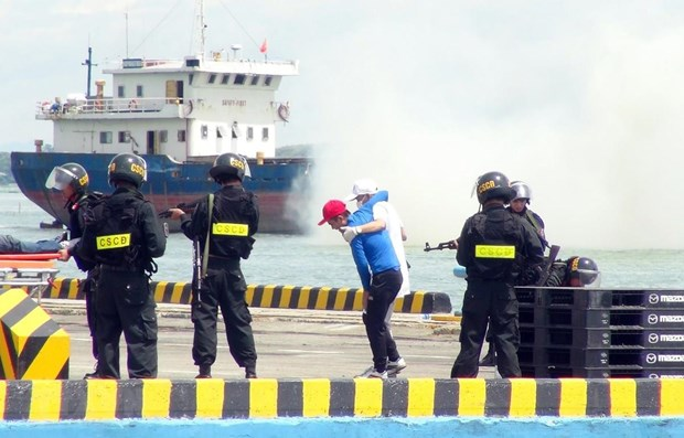 Maritime security, anti-terrorism drill held in Quang Nam hinh anh 1