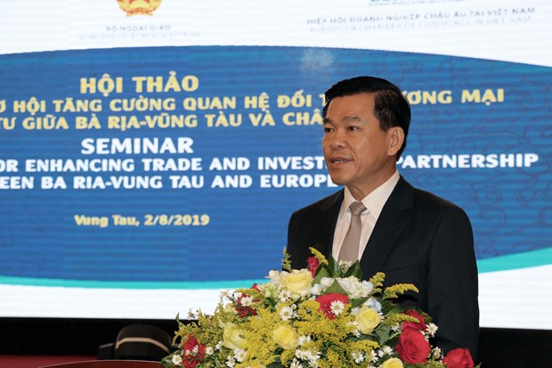Ba Ria-Vung Tau keen to bolster trade, investment ties with Europe hinh anh 1