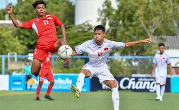 Vietnam beat Myanmar 3-0 in regional U15s hinh anh 1