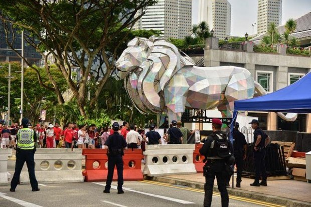 Singapore tightens security ahead of National Day hinh anh 1