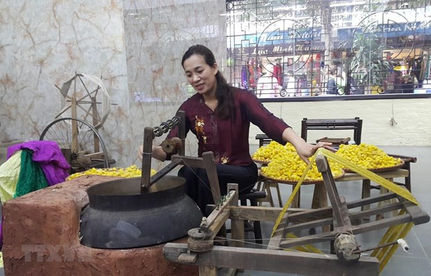 Festival honours Vietnam's traditional silk, brocade weaving hinh anh 1