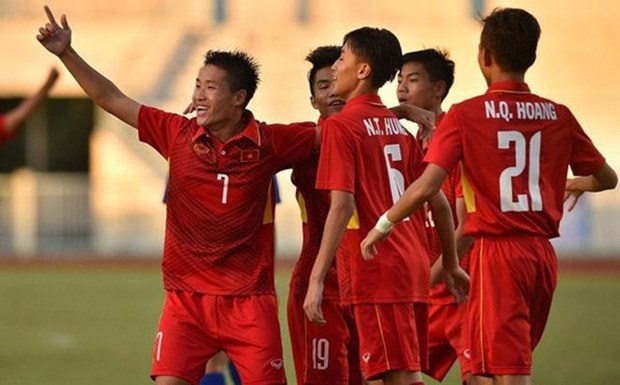 Vietnam defeat East Timor 1-0, advance to semi-finals in regional U15 hinh anh 1