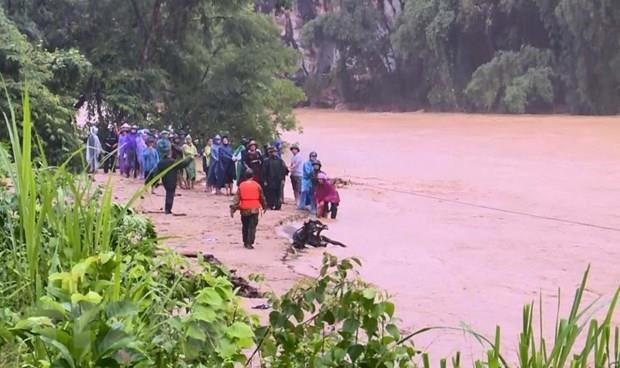 Five dead, 14 missing as consequences of storm Wipha hinh anh 1