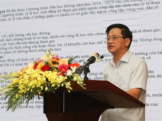 Hanoi to continue school milk programme in new academic year hinh anh 1