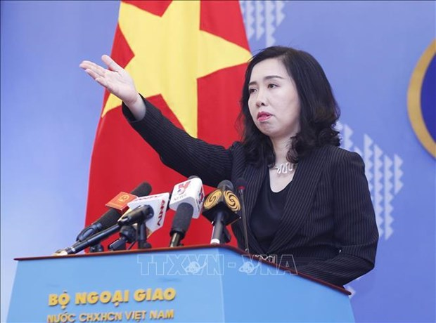Vietnam hands diplomatic note opposing China's military drills hinh anh 1