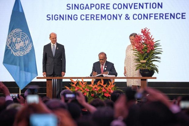 46 countries sign international mediation treaty hinh anh 1