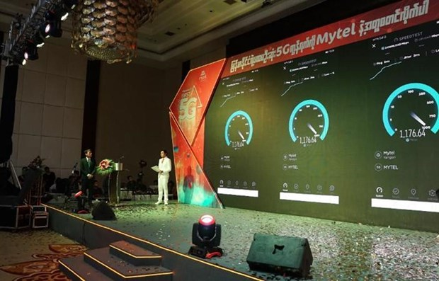 Telecom group launches 5G technology in Myanmar hinh anh 1