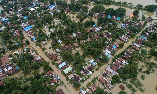 Myanmar: tens of thousands displaced by floods hinh anh 1