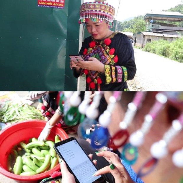 Bac Kan's ethnic women sell local products online hinh anh 1