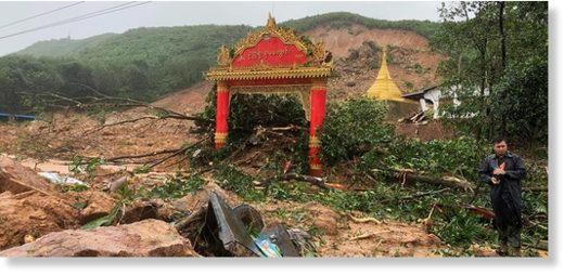 Myanmar: At least 15 killed in landslide by monsoon rain hinh anh 1