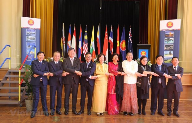 Ceremony marks 52nd anniversary of ASEAN in Australia hinh anh 1