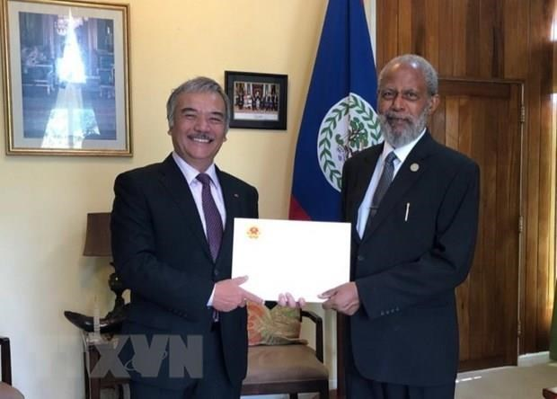 Governor General of Belize impressed by Vietnam's development hinh anh 1