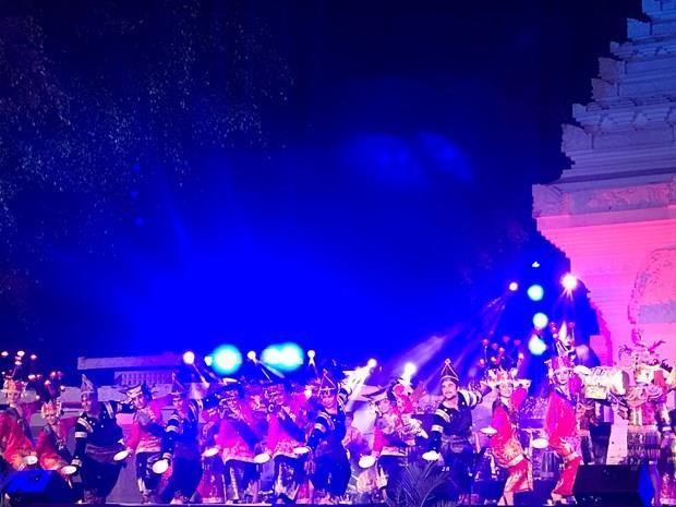 Vietnamese awardees perform at Indonesian cultural show hinh anh 1