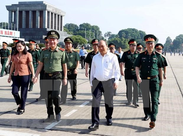 PM inspects President Ho Chi Minh Mausoleum's maintenance hinh anh 1
