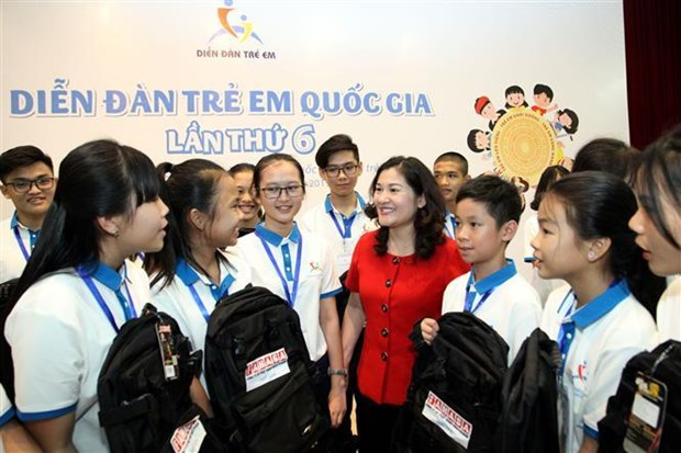 2019 national children's forum opens in Hanoi hinh anh 1