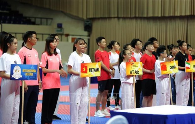 Asian Open Taekwondo Championship opens in HCM City hinh anh 1