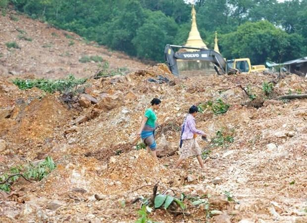 Death toll rises to 69 in Myanmar monsoon landslide hinh anh 1