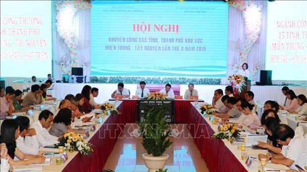 Industry and trade conference for Central – Central Highlands regions held hinh anh 1