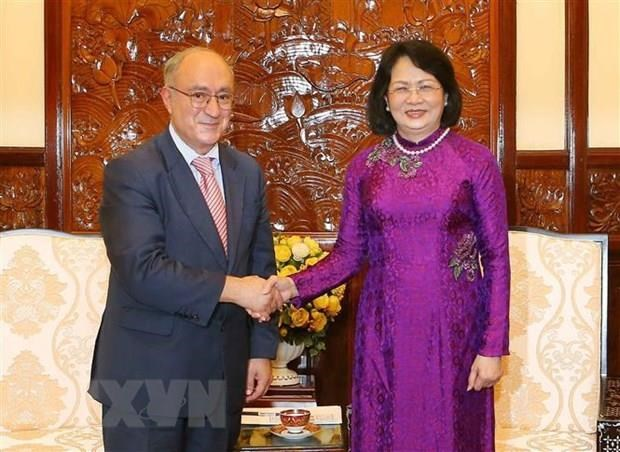 Vice President receives German education official hinh anh 1