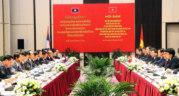 Vietnamese, Lao parties share inspection experience hinh anh 1