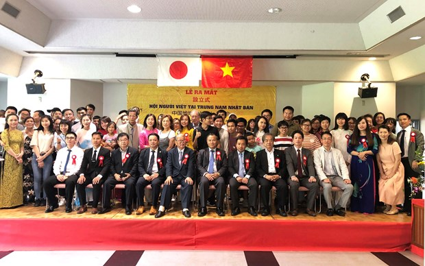 Vietnamese people association established in central-southern Japan hinh anh 1