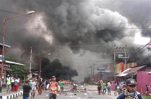 Riots break out in Indonesia's West Papua province hinh anh 1