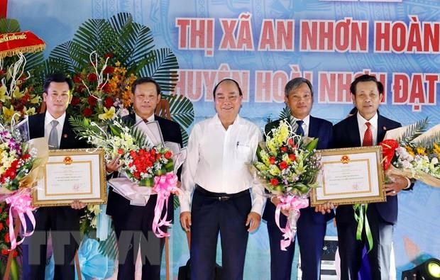 PM attends ceremony recognising new-style rural areas in Binh Dinh hinh anh 1