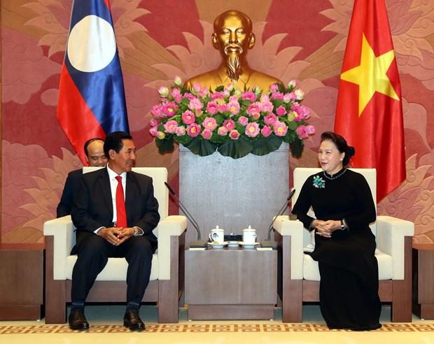 Top legislator meets Lao NA Vice President hinh anh 1