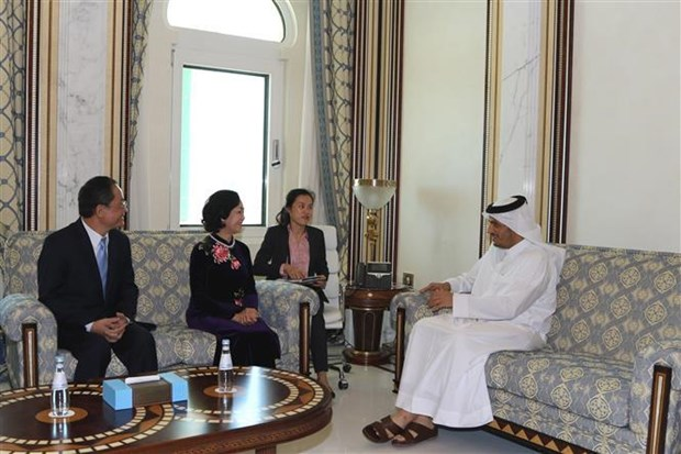 Vietnamese Party official visits Qatar to boost bilateral ties hinh anh 1