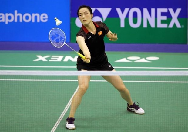 Vietnamese female player beats No 15 seed at world badminton champs hinh anh 1