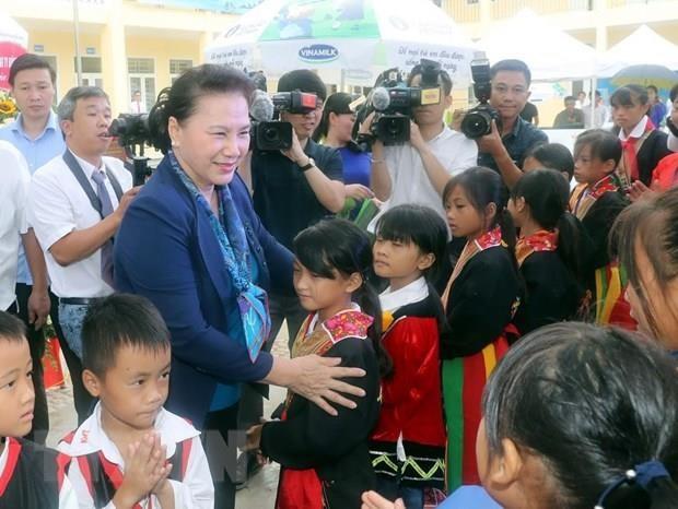 Top legislator visits mountainous commune in Quang Ninh province hinh anh 1