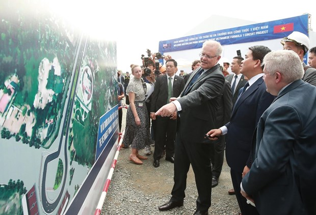 Australian PM visits F1 circuit project in Hanoi hinh anh 1