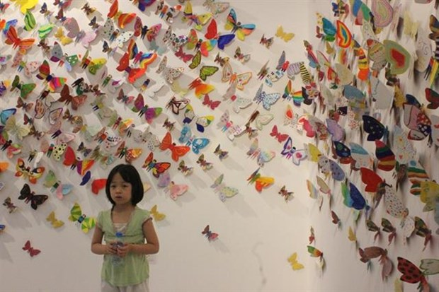 Exhibition displays butterflies made by disabled children hinh anh 1