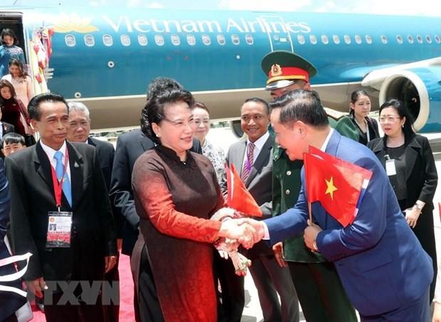 NA Chairwoman arrives in Bangkok for AIPA 40, Thailand visit hinh anh 1