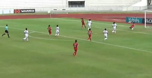 Vietnam advance to final of AFF women's football champs hinh anh 1