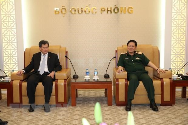 Defence Minister receives ASEAN Secretary General hinh anh 1