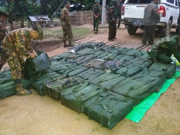 Myanmar seizes nearly 800kg of meth in Shan state hinh anh 1